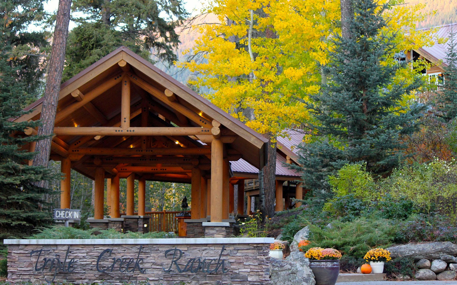America's Best Hotels for Fall Colors: Triple Creek Ranch, Darby, MT