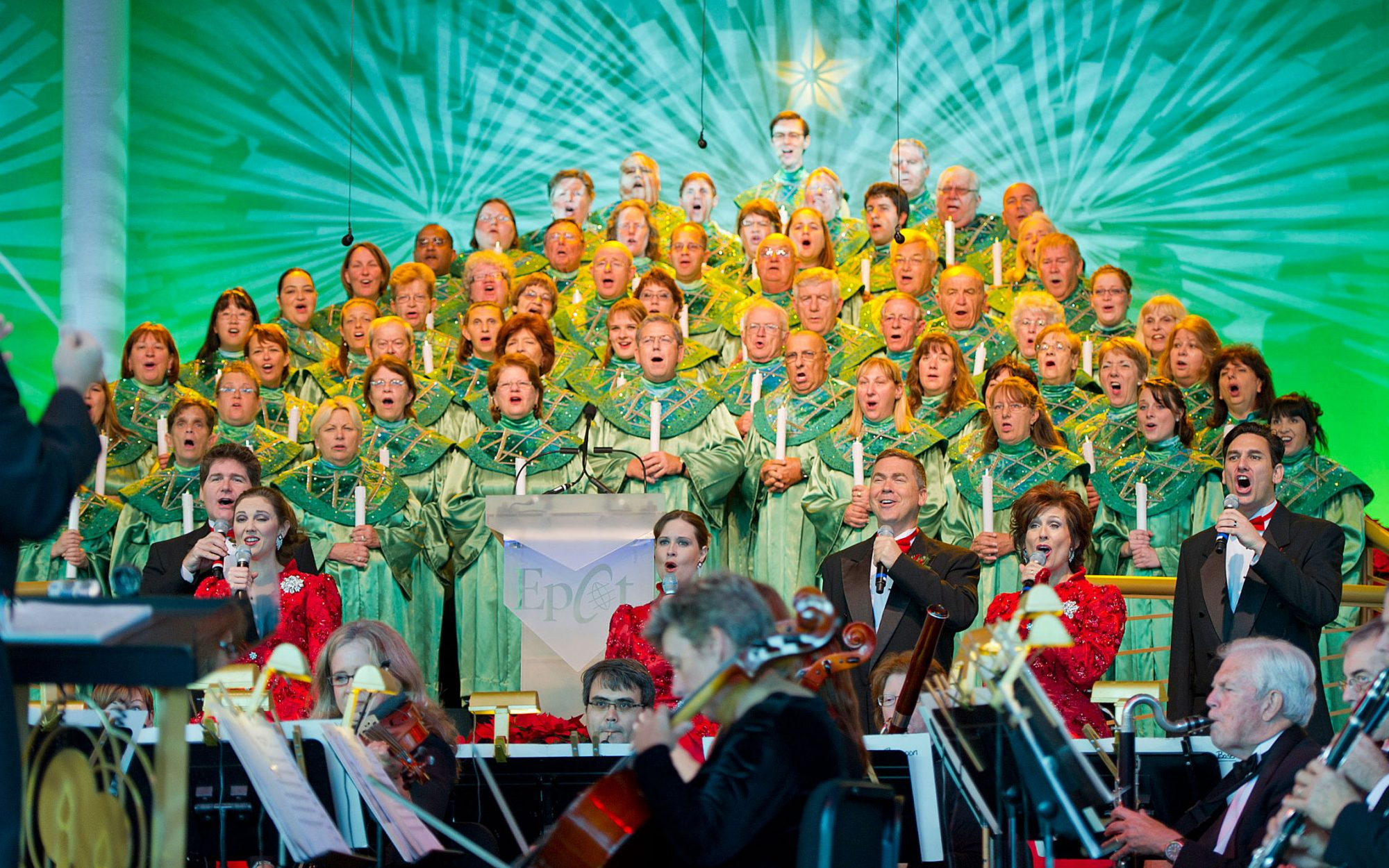Disney Christmas Travel Tips: Reserve a Seat for the Candlelight Processional