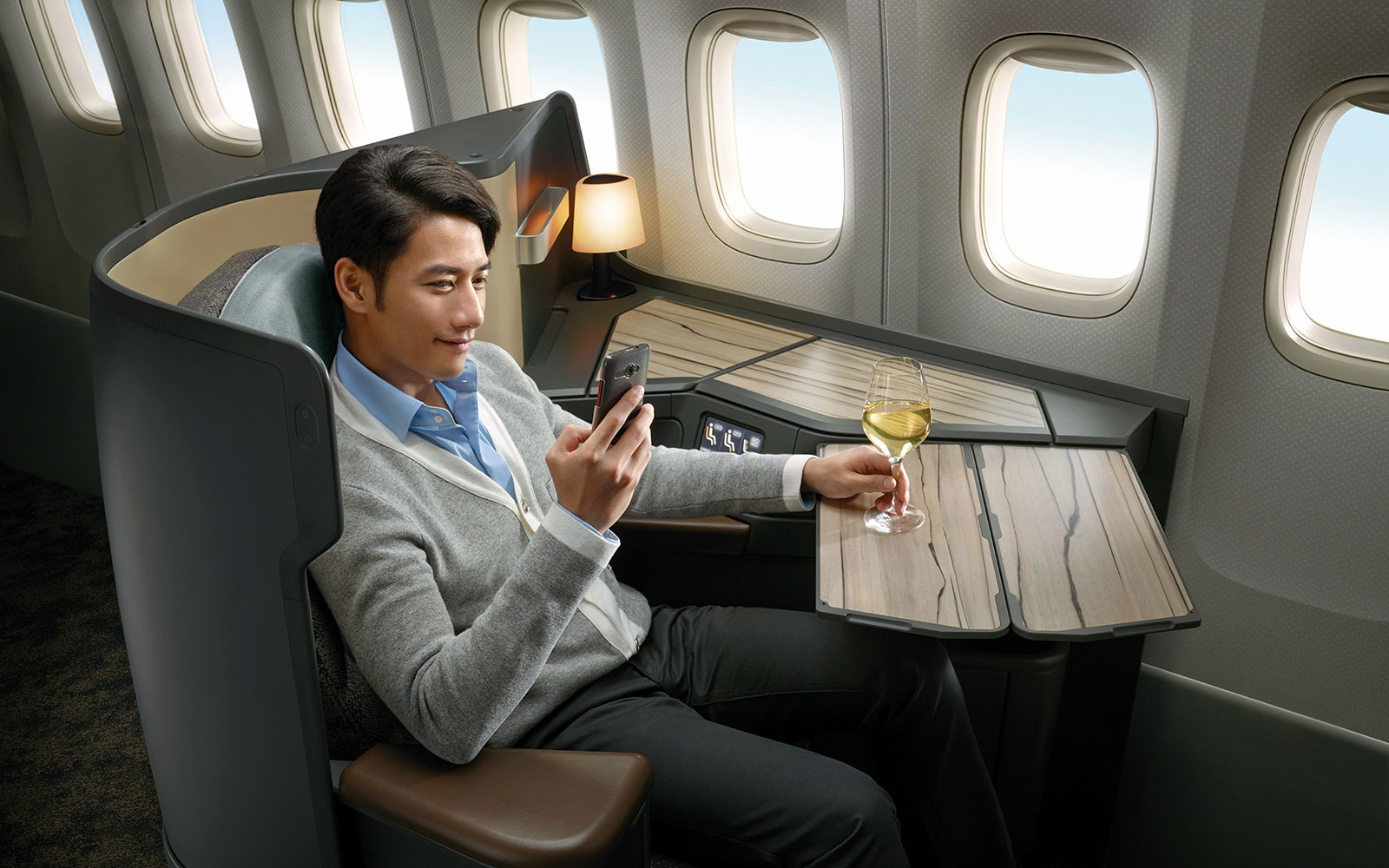 15 Craziest Airplane Cabins of the Future: China Airlines Premium Business-Class Seat – by Ray Chen