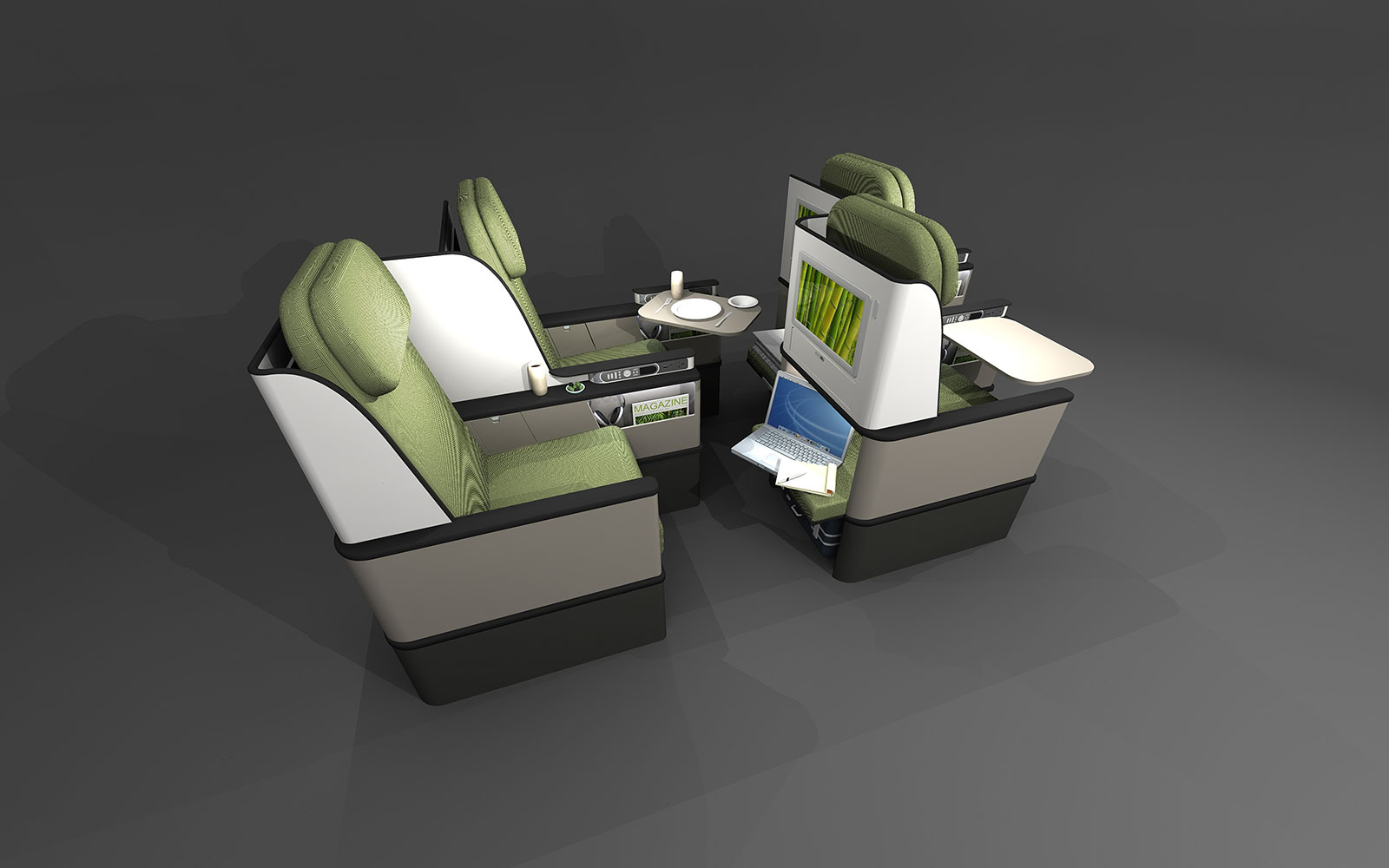 15 Craziest Airplane Cabins of the Future: Short-Haul Premium Seat Concept – by paperclipdesign
