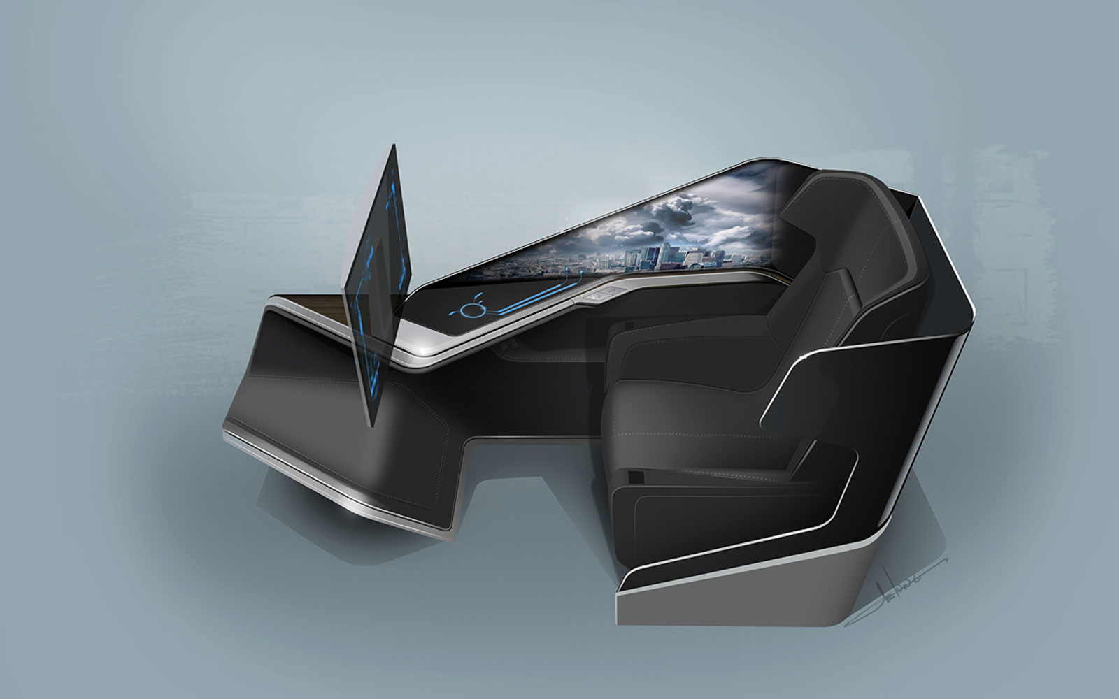 15 Craziest Airplane Cabins of the Future: Thales Immersive Business-Class Seat – by BMW DesignWorks