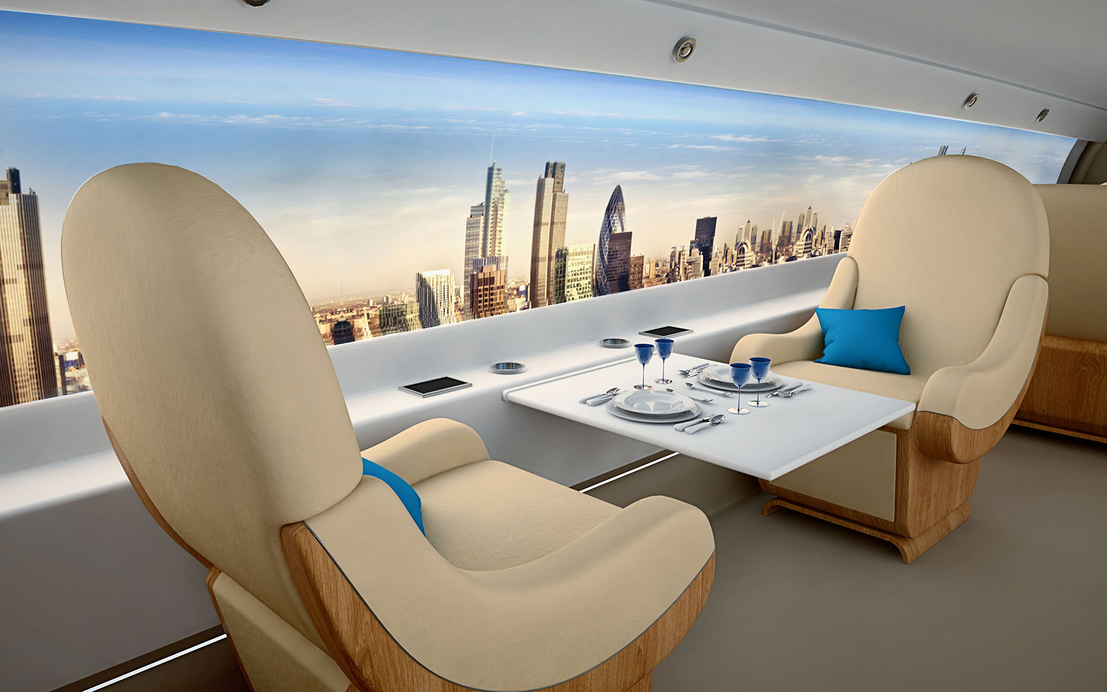 15 Craziest Airplane Cabins of the Future: The Windowless Cabin – by Spike Aerospace