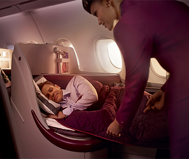Coolest Airline Amenity Kits: Qatar - First Class Dior Bag