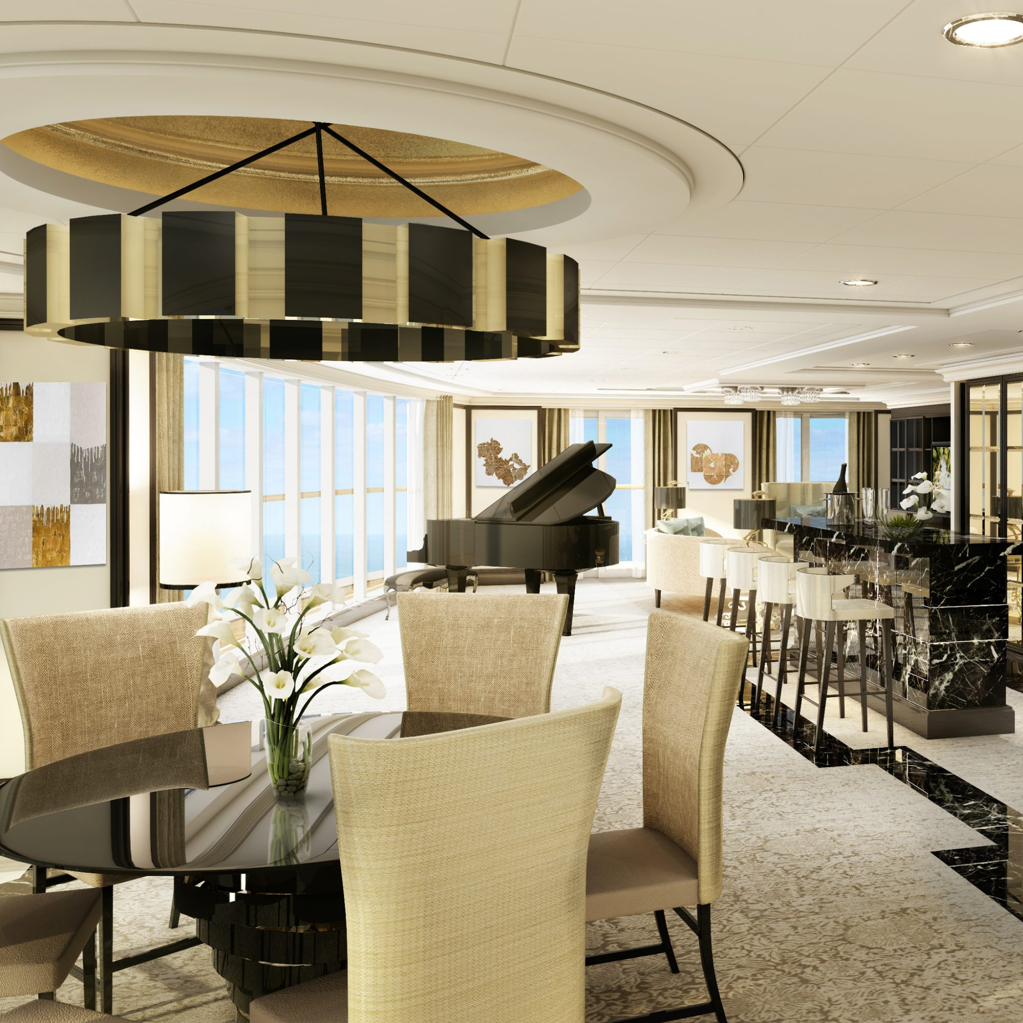 Regent Seven Seas Explore, Regent Suite Living Room
