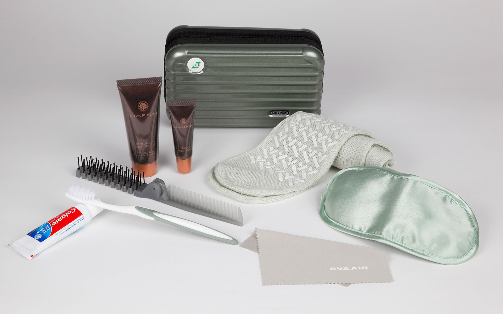 Coolest Airline Amenity Kits: EVA Air - Rimowa Amenity Kits in Royal Laurel Business Class