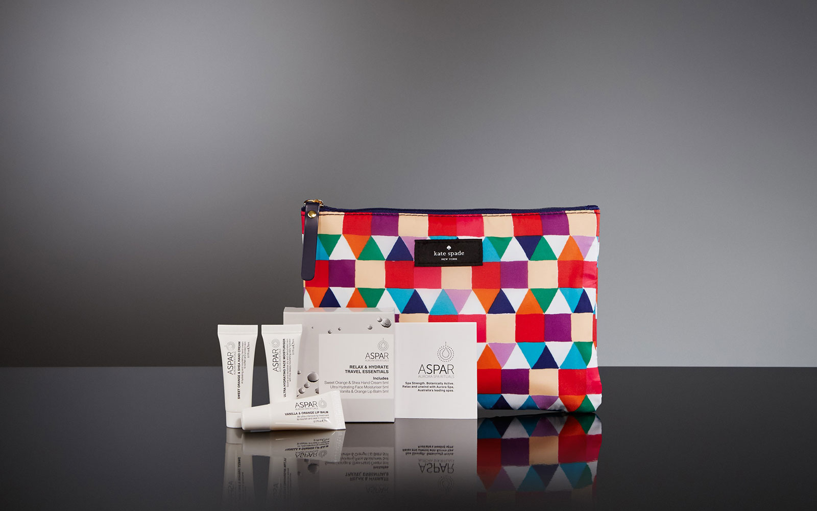 Qantas: Business Class Jack and Kate Spade Amenity Kits