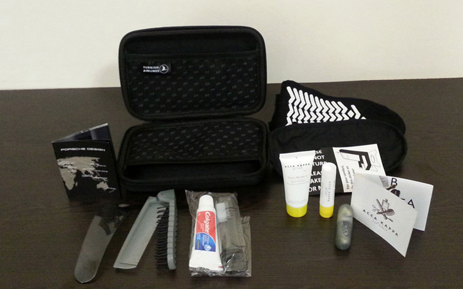 Coolest Airline Amenity Kits: Turkish Airlines First Class Porsche Amenity Kit