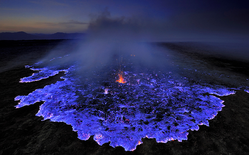 Nature's Most Spectacular Light Shows: Blue Volcano in Danakil, Ethiopia