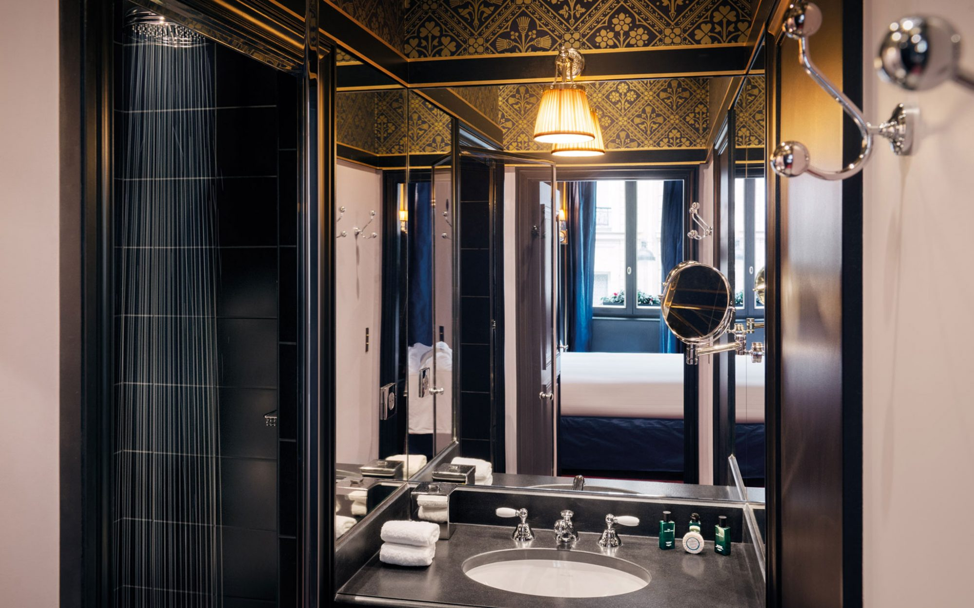 New to Paris: a Vampy Hotel With Design Steeped in Sex: Vanity in Deluxe Room