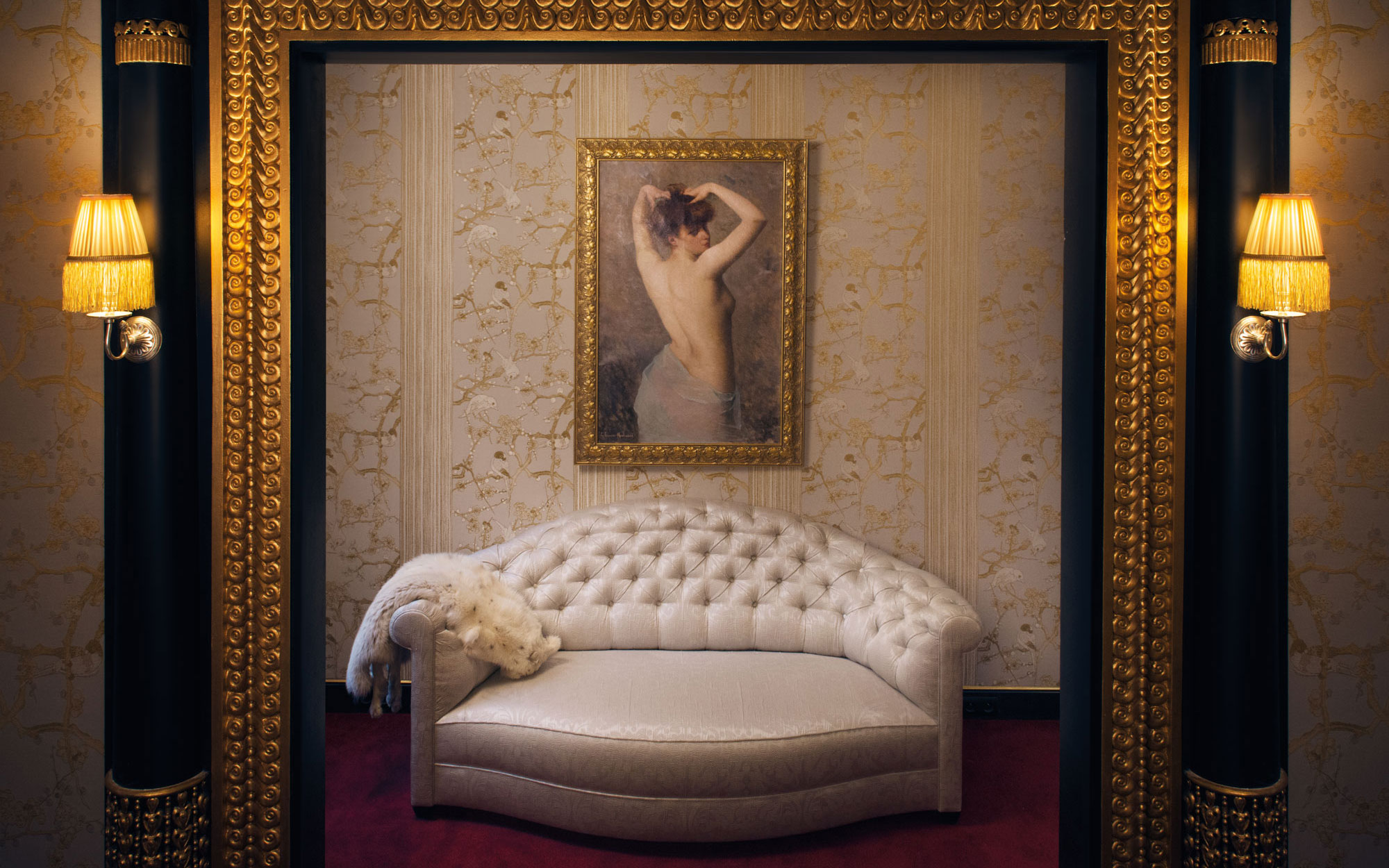 New to Paris: a Vampy Hotel With Design Steeped in Sex: Liane de Pougy's salon