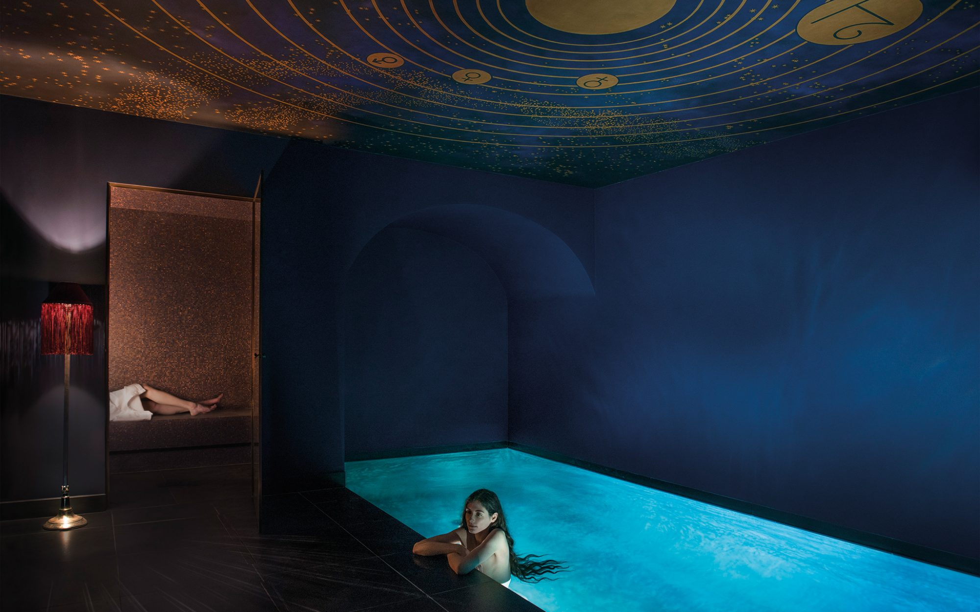 New to Paris: a Vampy Hotel With Design Steeped in Sex: Pool and Hammam