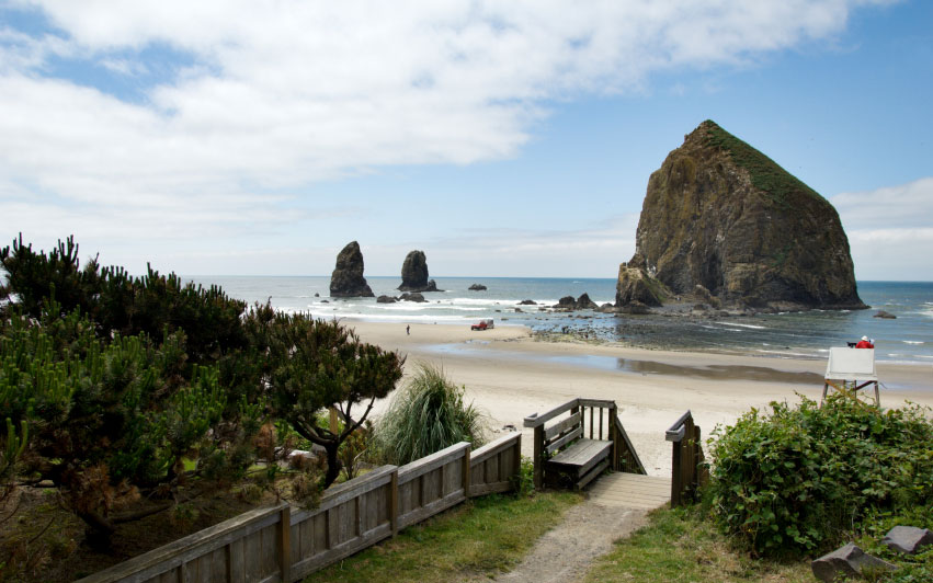 Admire Sandcastles at Cannon Beach, OR