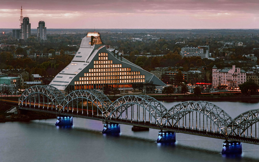 World's Coolest New Tourist Attractions 2015: National Library of Latvia, Riga