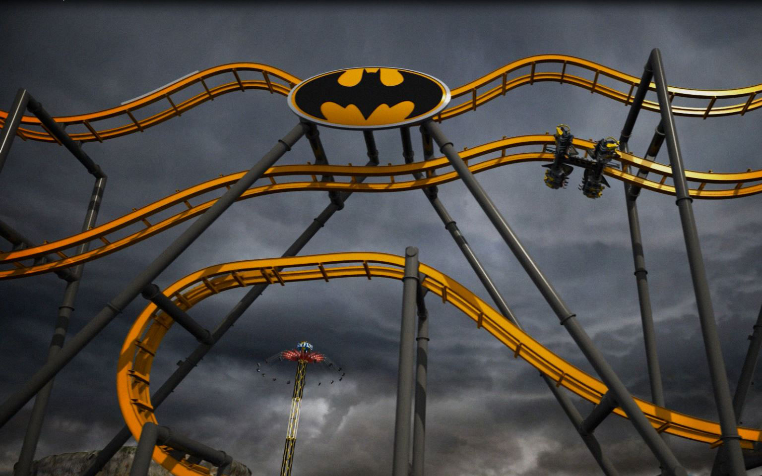 World's Coolest New Tourist Attractions 2015: Batman: The Ride, Six Flags Fiesta Texas, San Antonio, TX