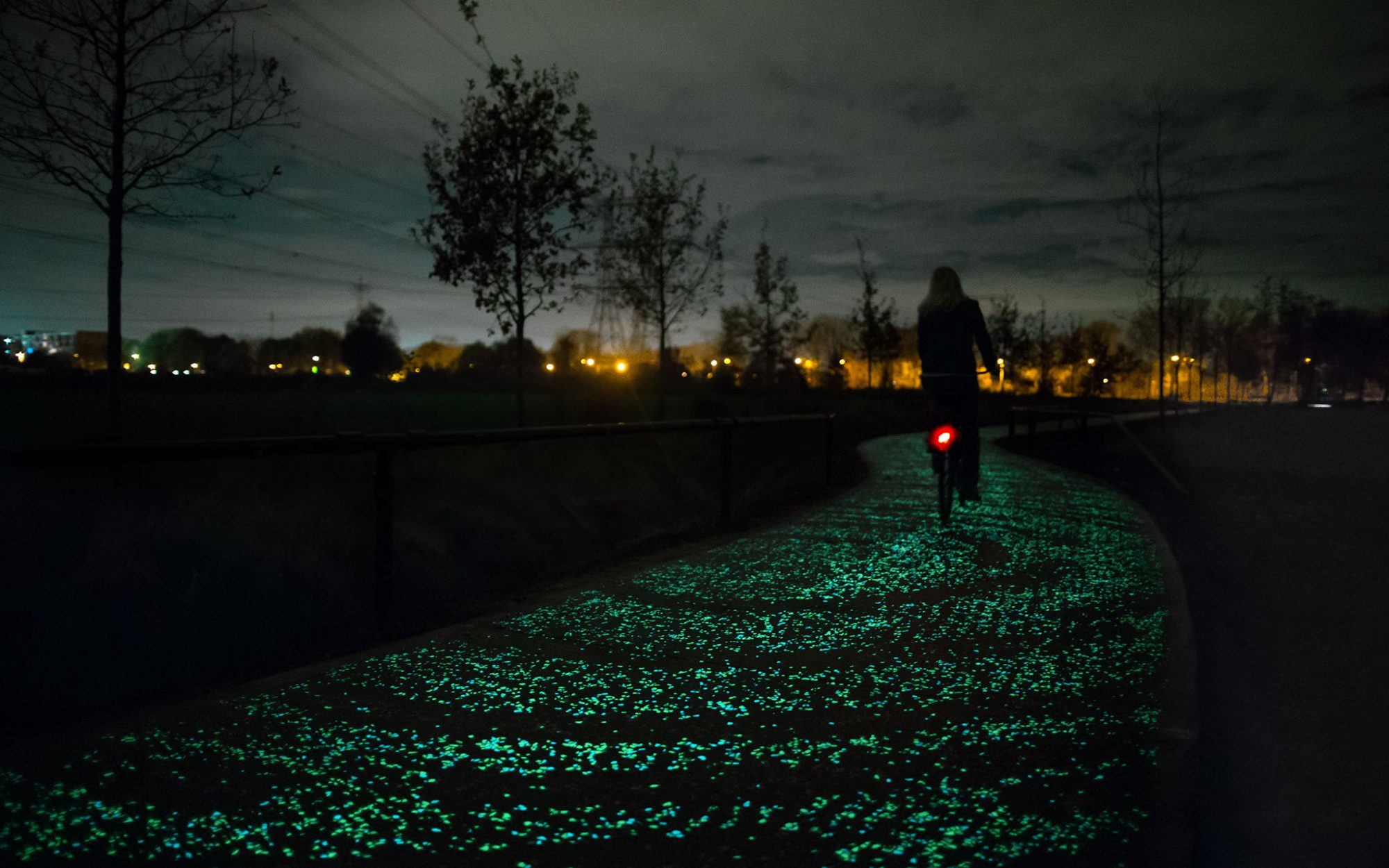 World's Coolest New Tourist Attractions 2015: Starry Night Bicycle Path, Nuenen, Netherlands