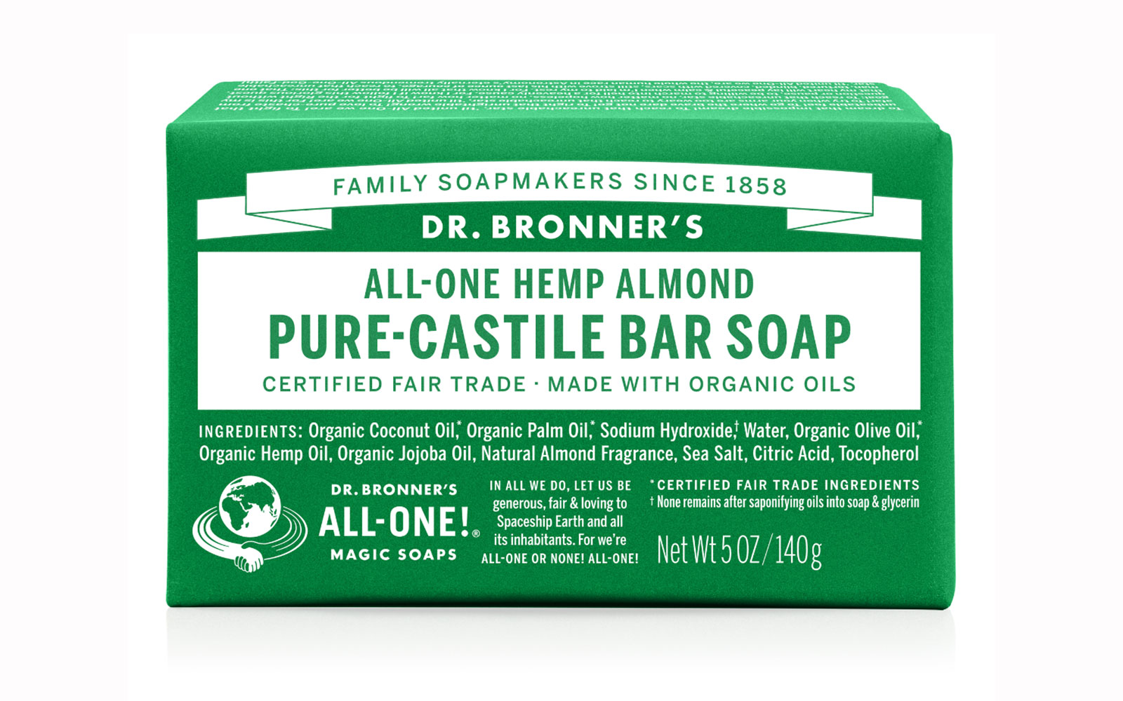19 Liquid-Free Beauty Products for a Spill-Proof Carry-On: Dr. Bronner's Almond Castile Soap