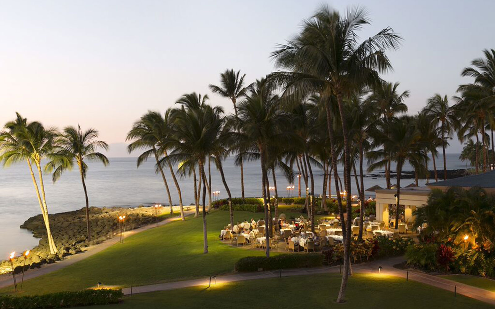 Ten of America's Best Outdoor Dining Spots, According to OpenTable: Brown's Beach House in Kohala Coast, Hawaii