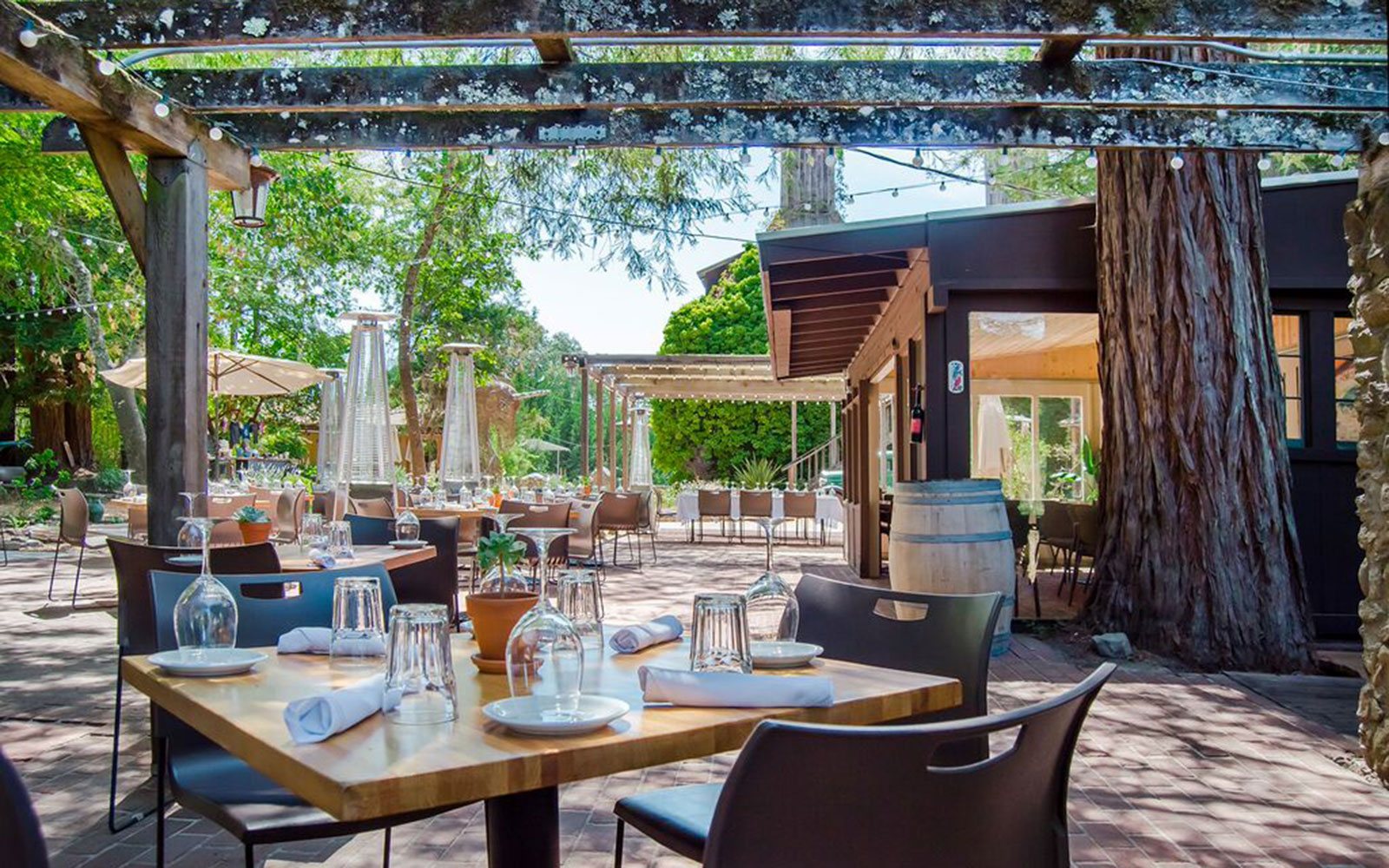 Ten of America's Best Outdoor Dining Spots, According to OpenTable: Corks at Russian River Vineyards in Forestville, California