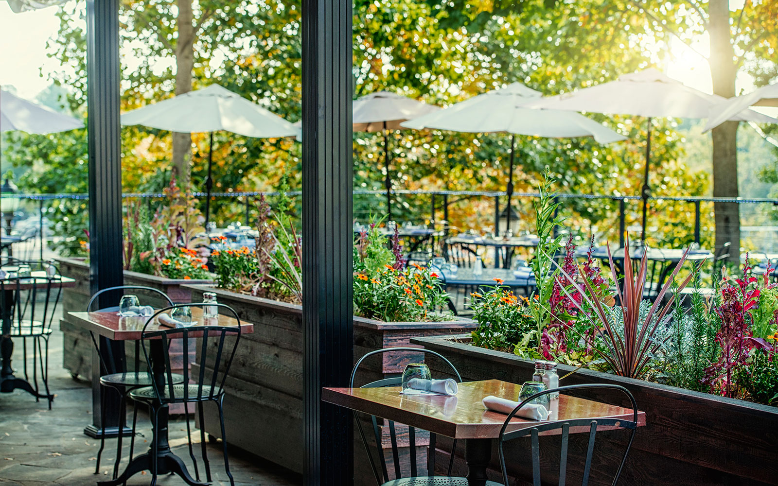 Ten of America's Best Outdoor Dining Spots, According to OpenTable: Passerelle Bistro in Greenville, South Carolina
