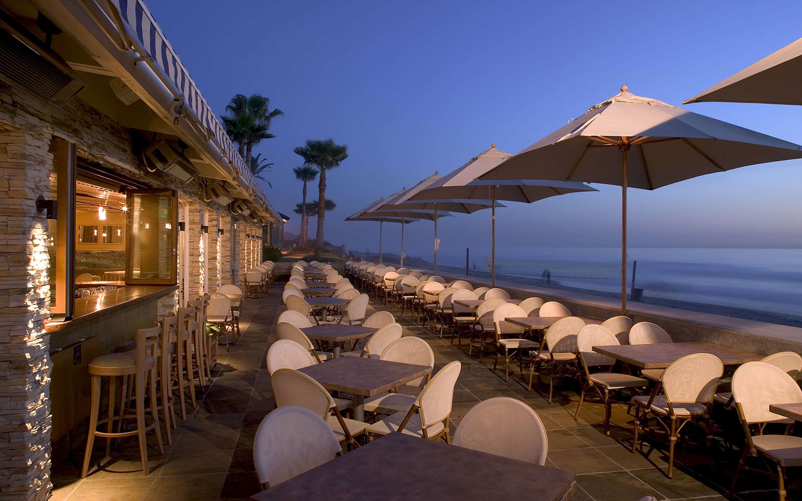 Ten of America's Best Outdoor Dining Spots, According to OpenTable: Poseidon in Del Mar, California