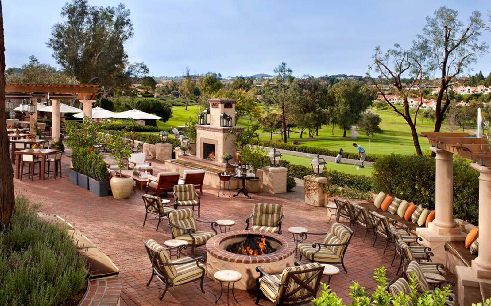 Ten of America's Best Outdoor Dining Spots, According to OpenTable: Veranda Fireside Lounge & Restaurant in San Diego