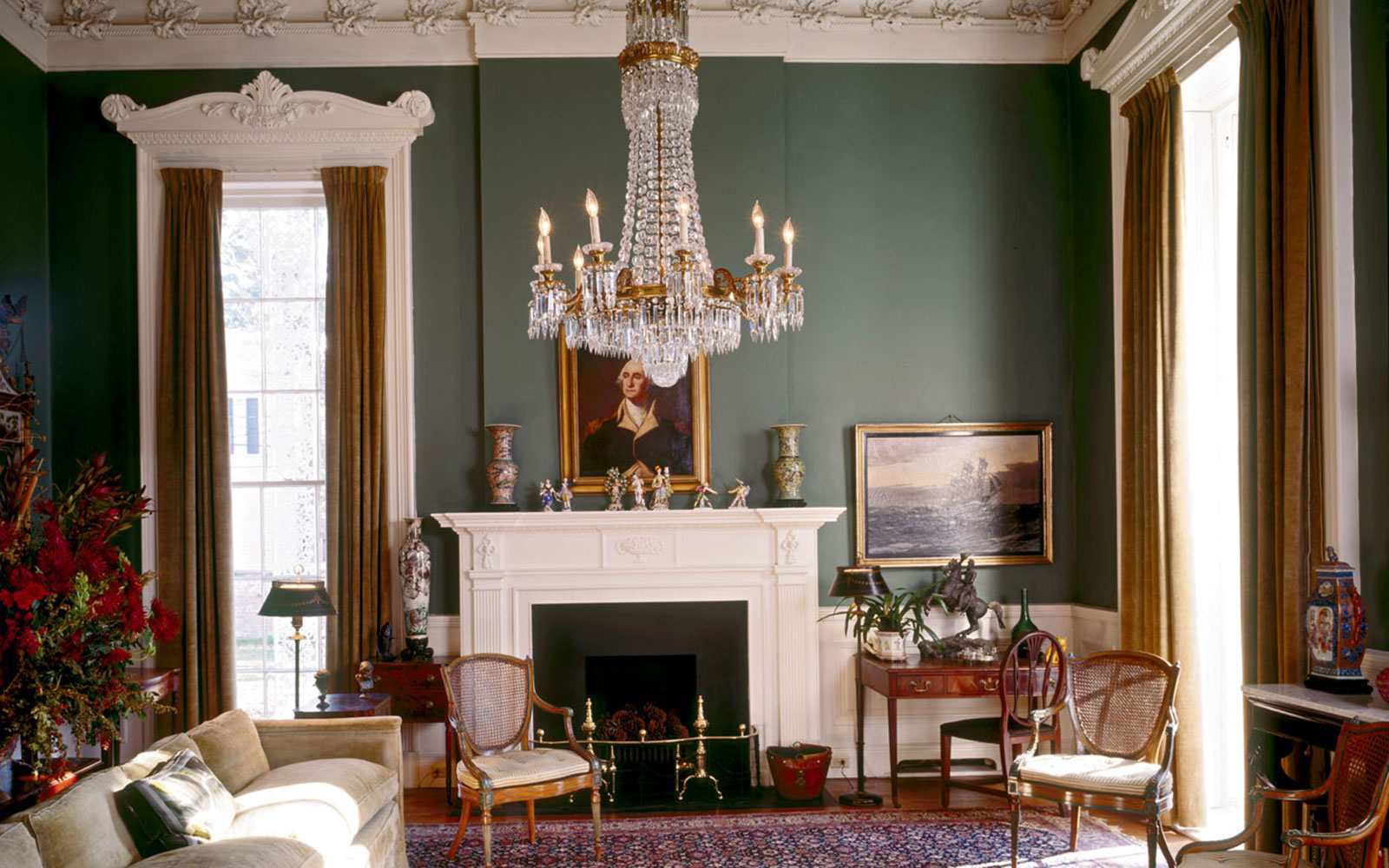 Reception Parlor at the Walter Grinnan Robinson House