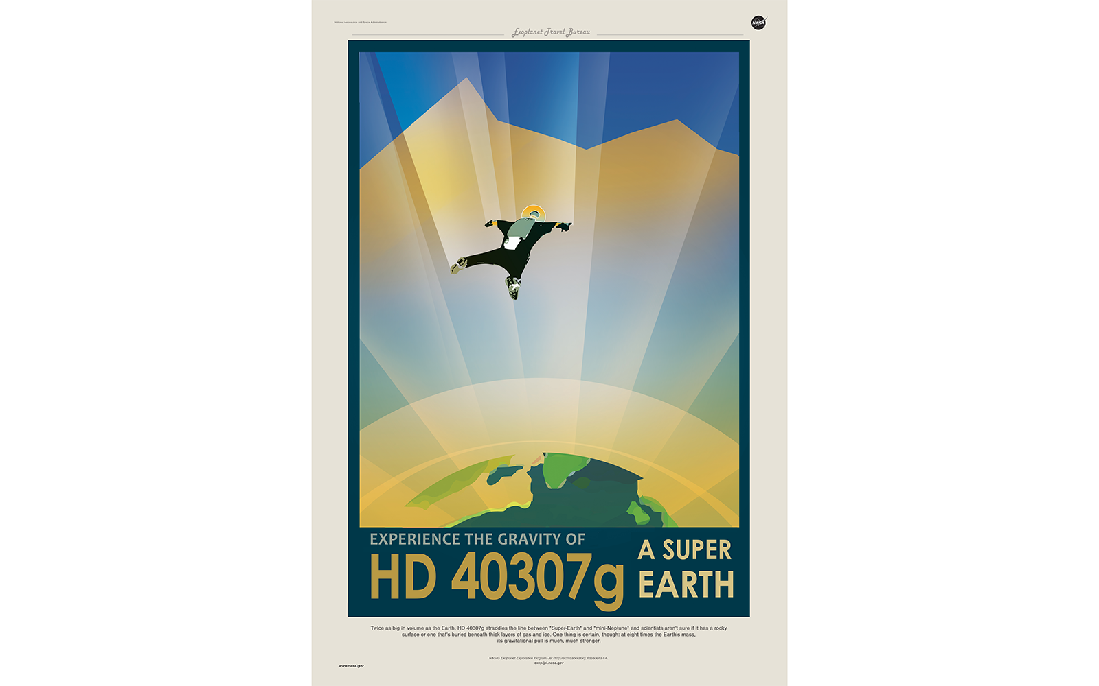 Vintage Space Travel Posters: Base Jumping on HD 40307g