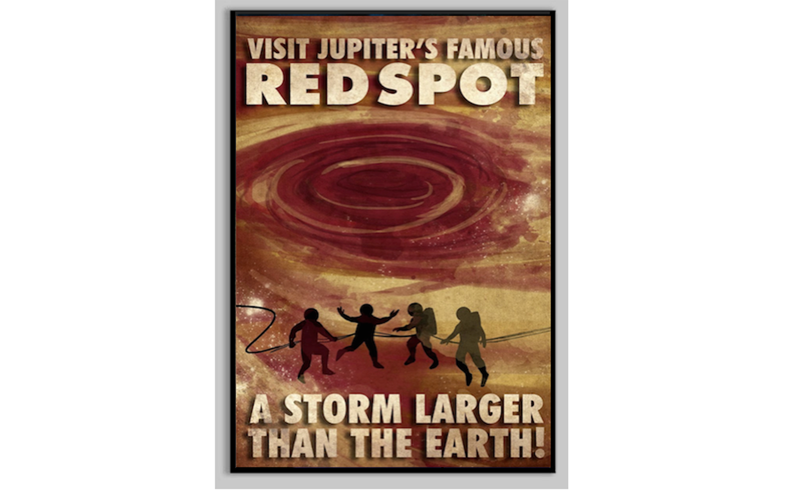Vintage Space Travel Posters: Extreme Storm Chasing: Jupiter's Red Spot