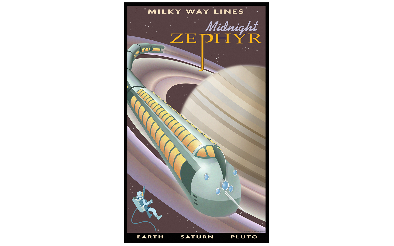 Vintage Space Travel Posters: Trade the Subway for the Milky Way