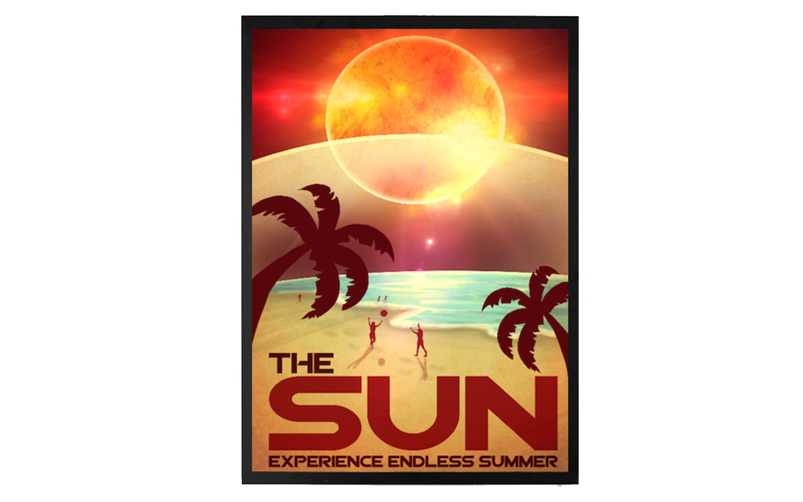 Vintage Space Travel Posters: Perfect Your Summer Tan on The Sun