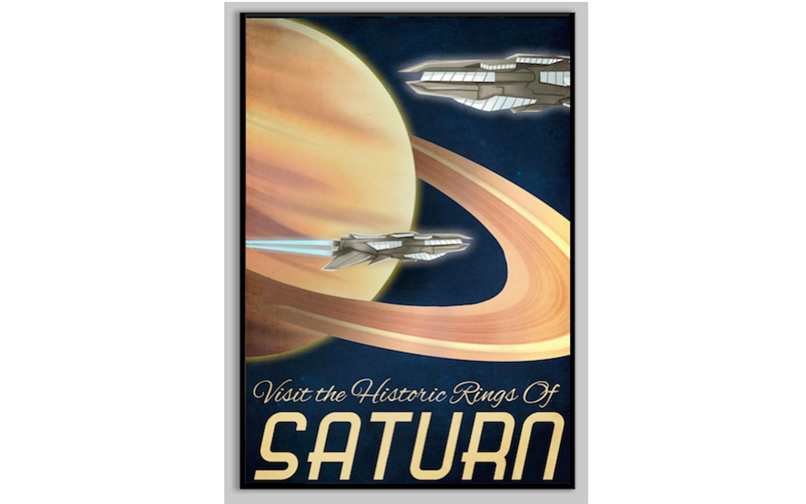 Vintage Space Travel Posters: Road Trip Around the Rings of Saturn