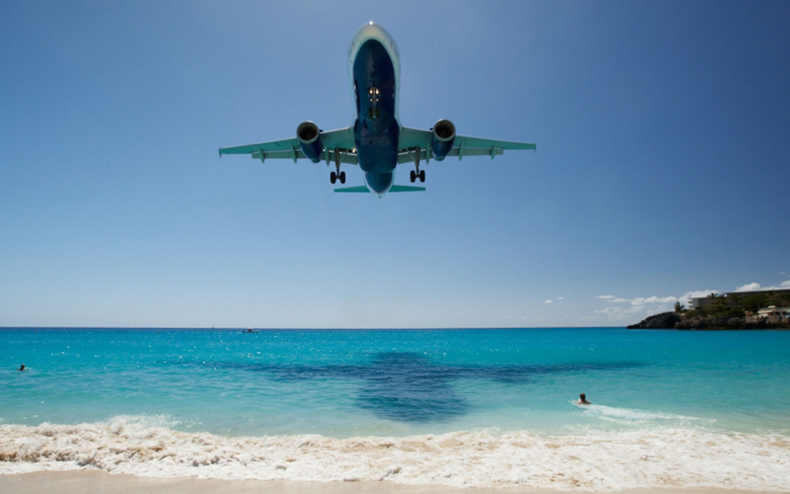 5. Princess Juliana International Airport in Saint Martin