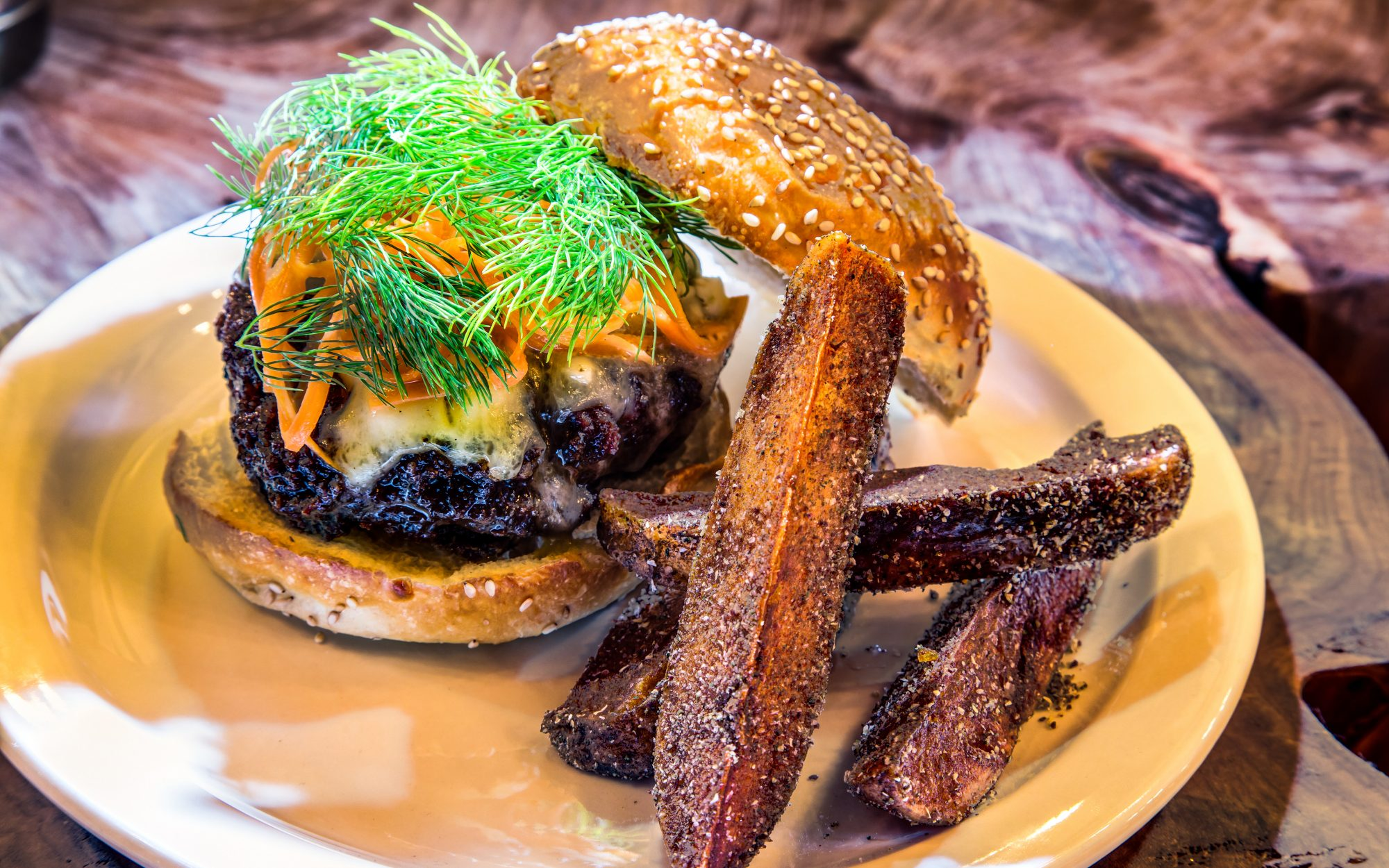 The Mutton Burger ($18) at Seamstress