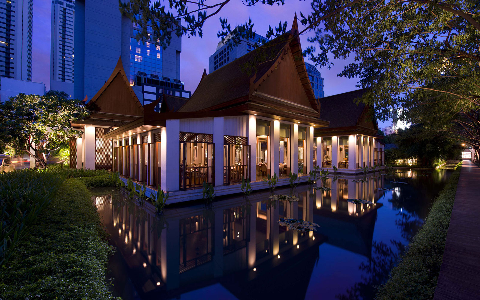 Bangkok Hotels Where The Restaurants Compete With the Rooms: Celadon, The Sukothai