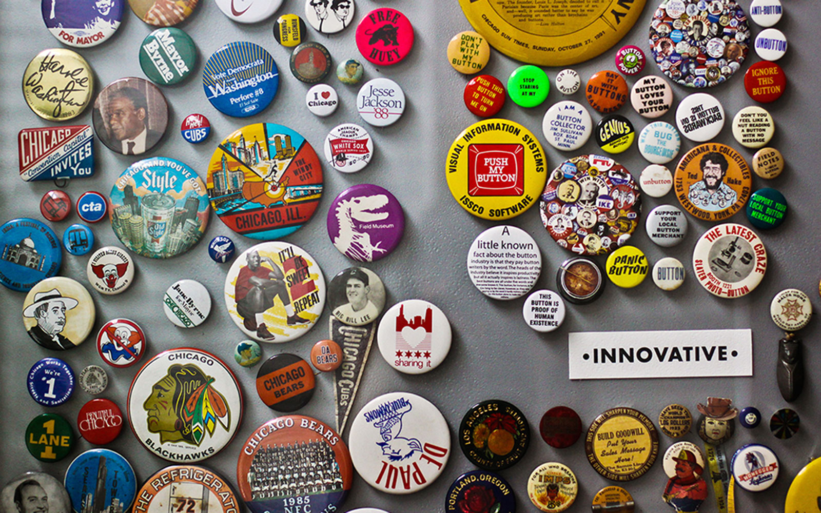 Chicago Cultural Spots: Busy Beaver Button Museum