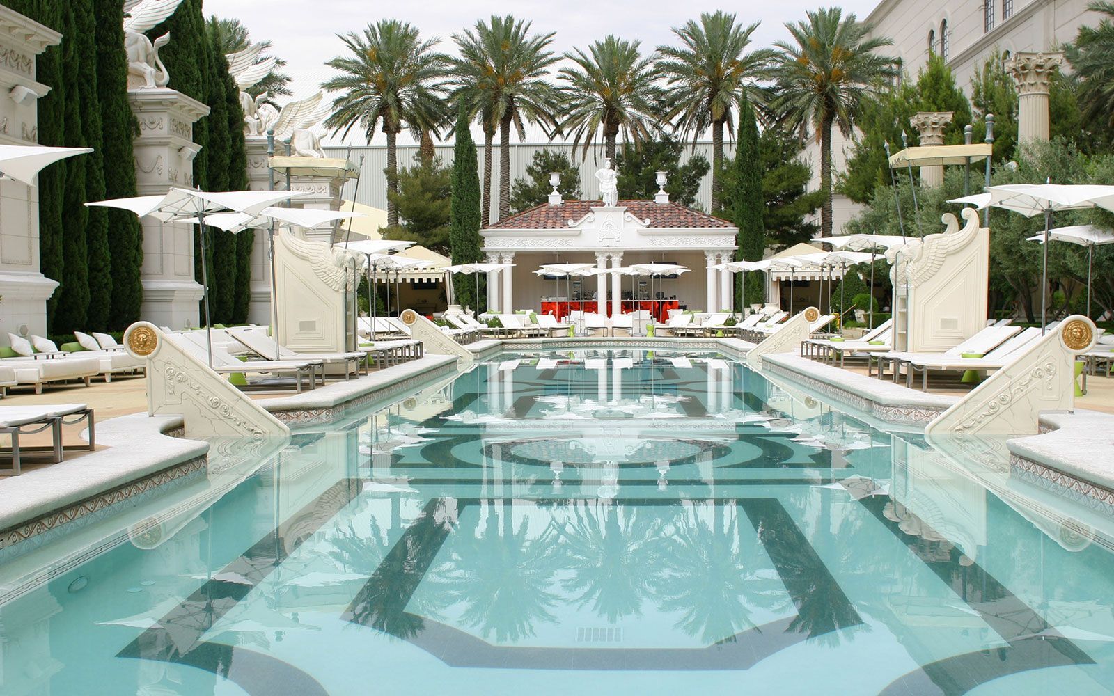 Take a Dip in These Amazing Hotel Pools: No Check-In Required: Caesars Palace, Las Vegas