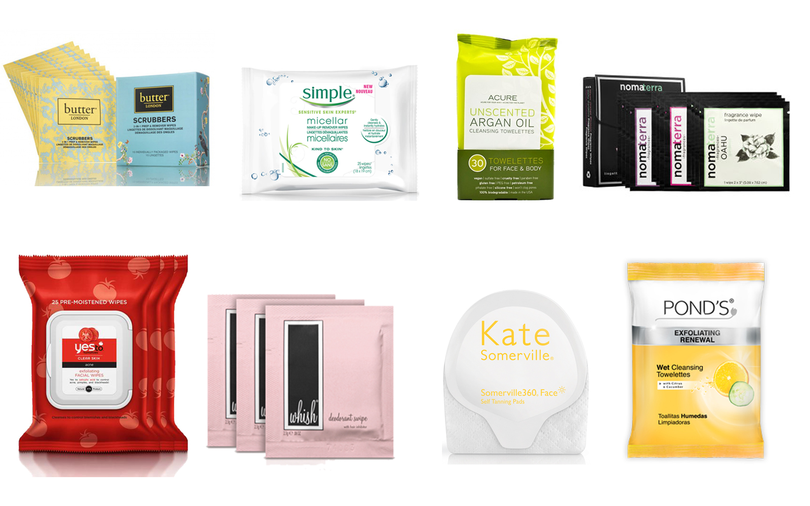 Beauty product wipes
