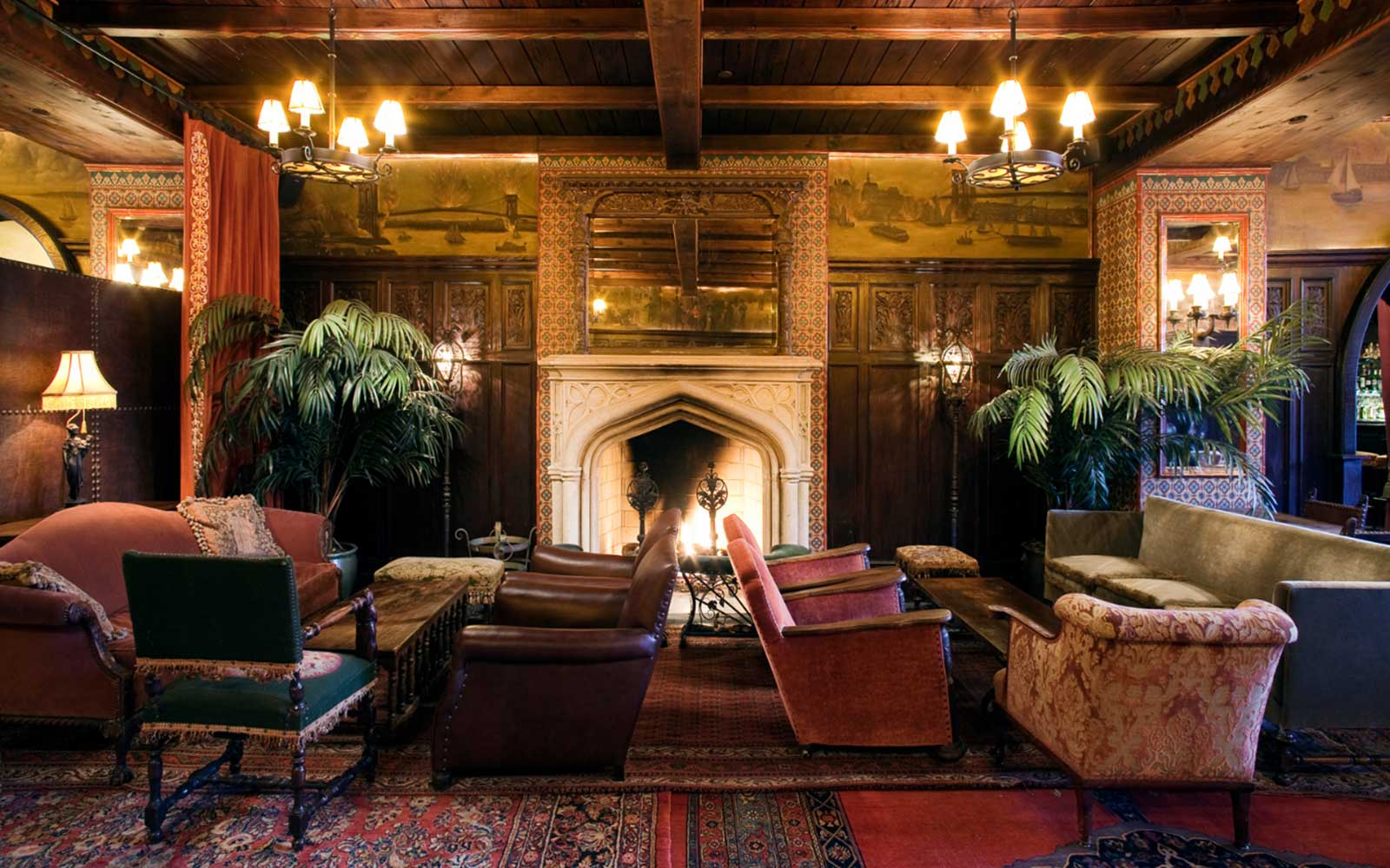 Bowery Hotel Fireplace Bar