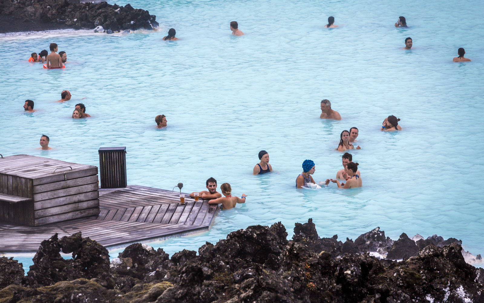 Chill Out at the World's Coolest Swim-Up Bars: Lagoon Bar in Blue Lagoon, Iceland