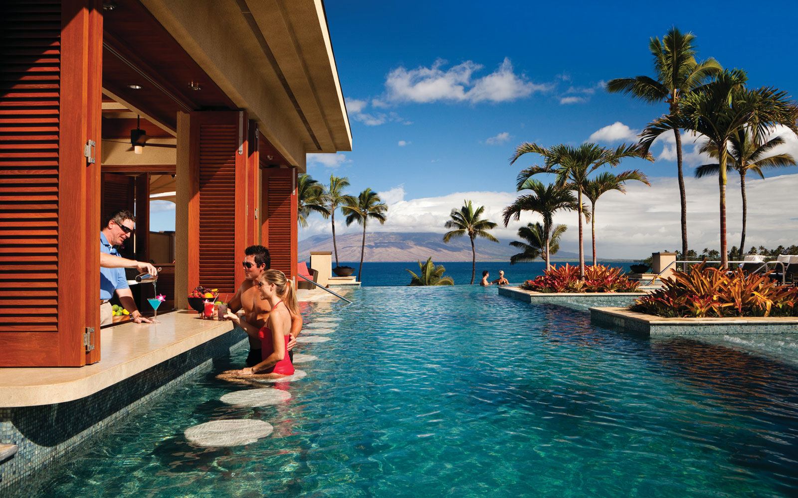 Chill Out at the World's Coolest Swim-Up Bars: Four Seasons Resort at Wailea in Maui, Hawaii