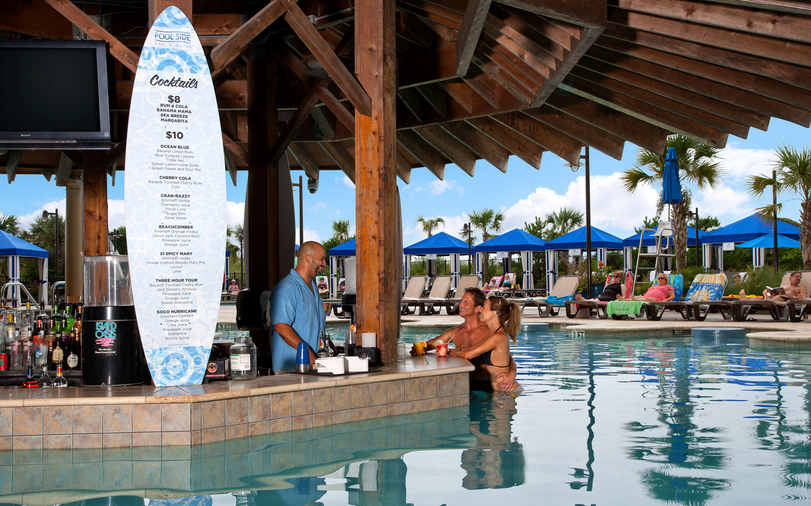Chill Out at the World's Coolest Swim-Up Bars: North Beach Plantation in Myrtle Beach, South Carolina