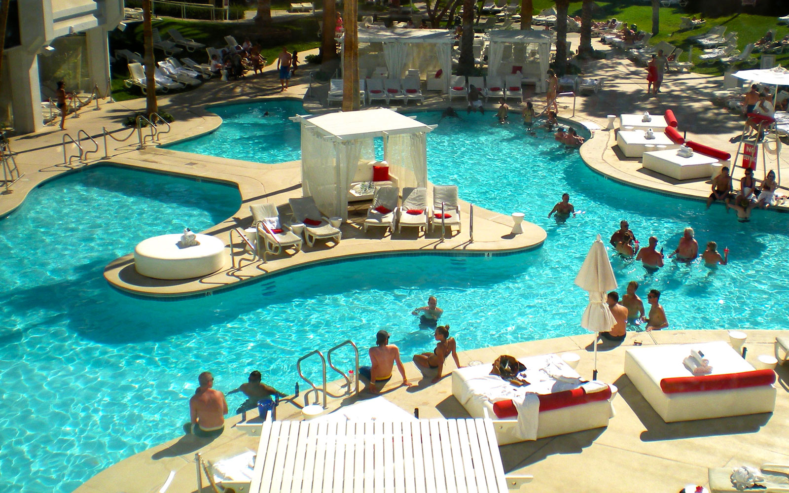 Chill Out at the World's Coolest Swim-Up Bars: Tropicana Pool in Las Vegas, Nevada