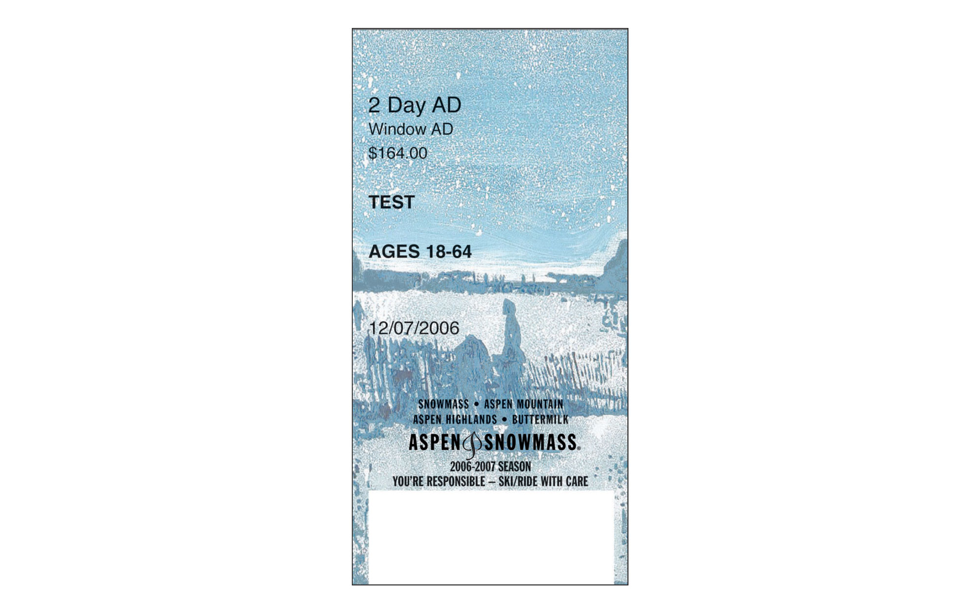 Aspen Lift Ticket