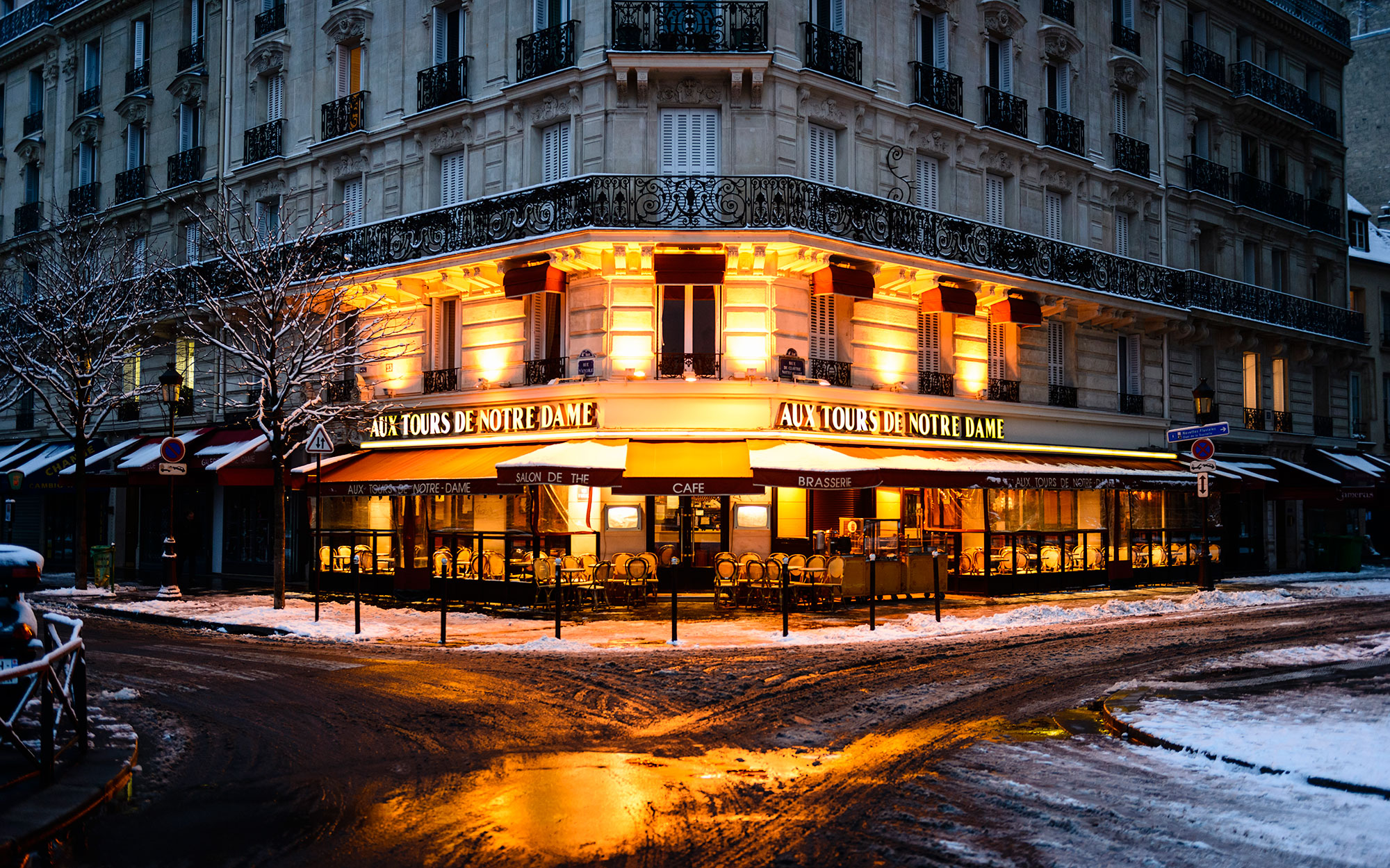 Parisian Cafe in the Morning