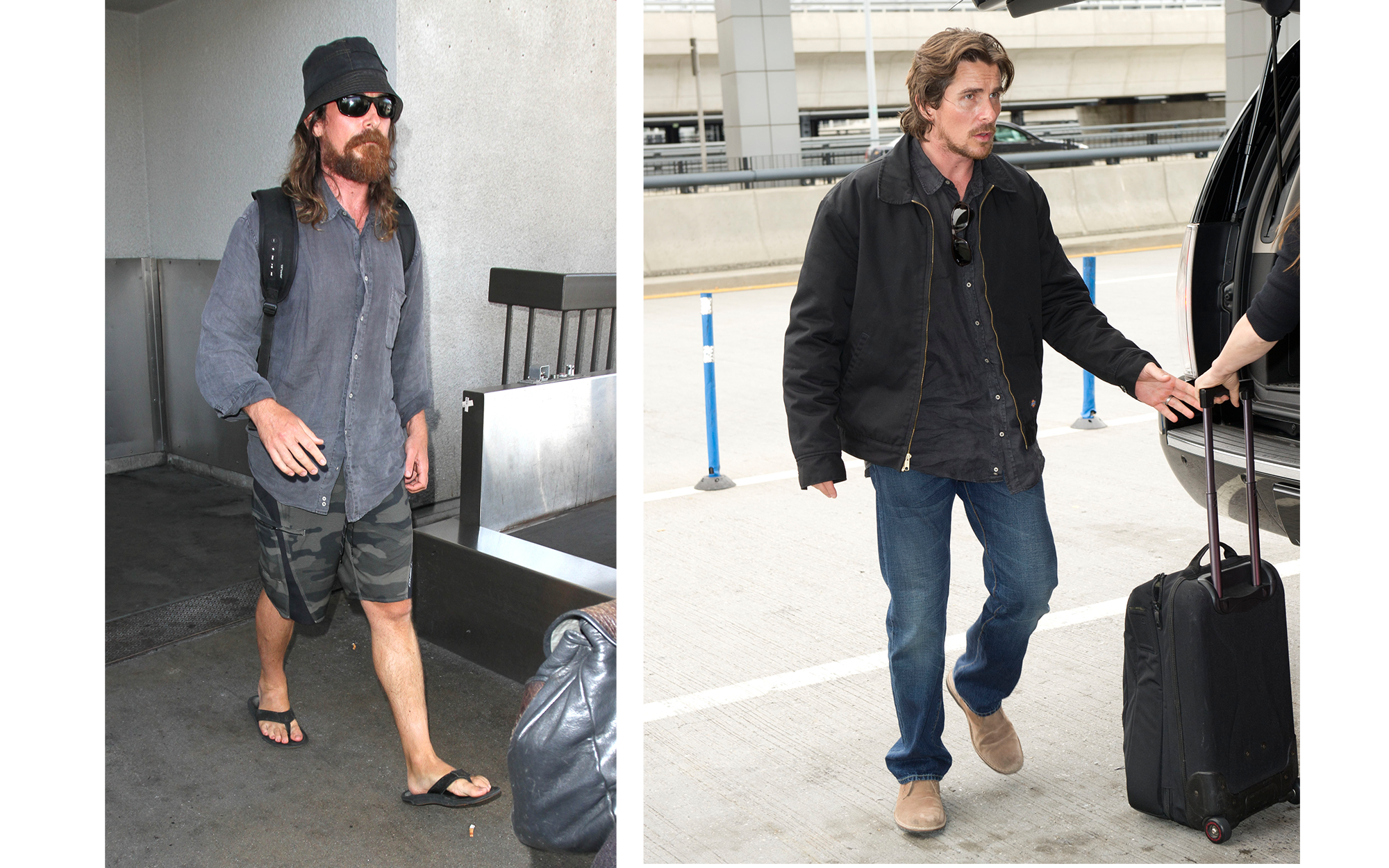 Celebrity Airport Travel: Christian Bale