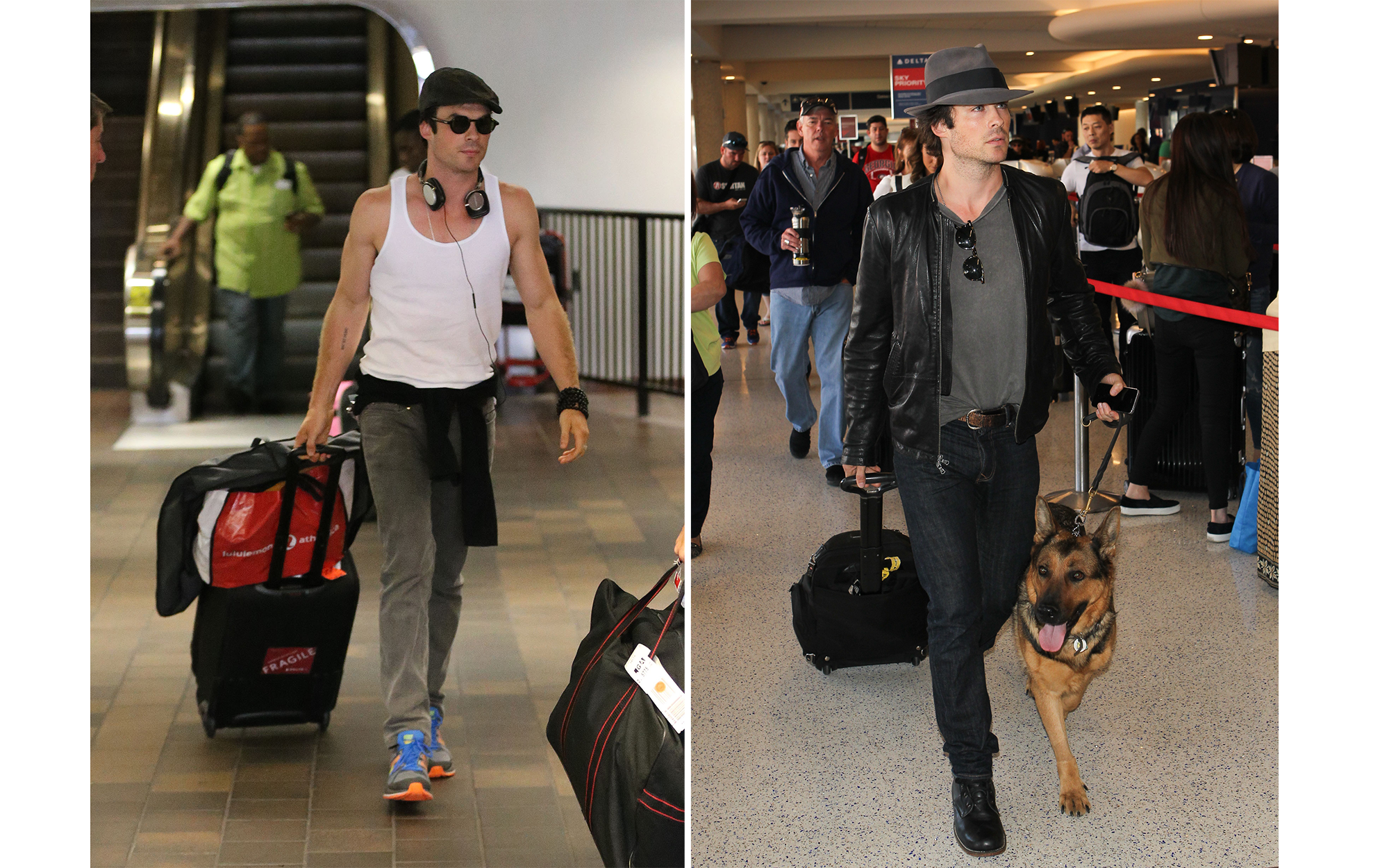 Celebrity Airport Style: Ian Somerhalder