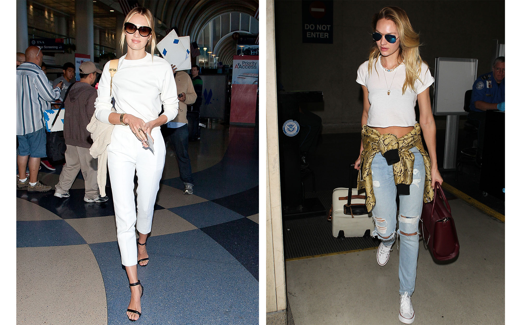 Celebrity Airport Style: Candice Swanepoel
