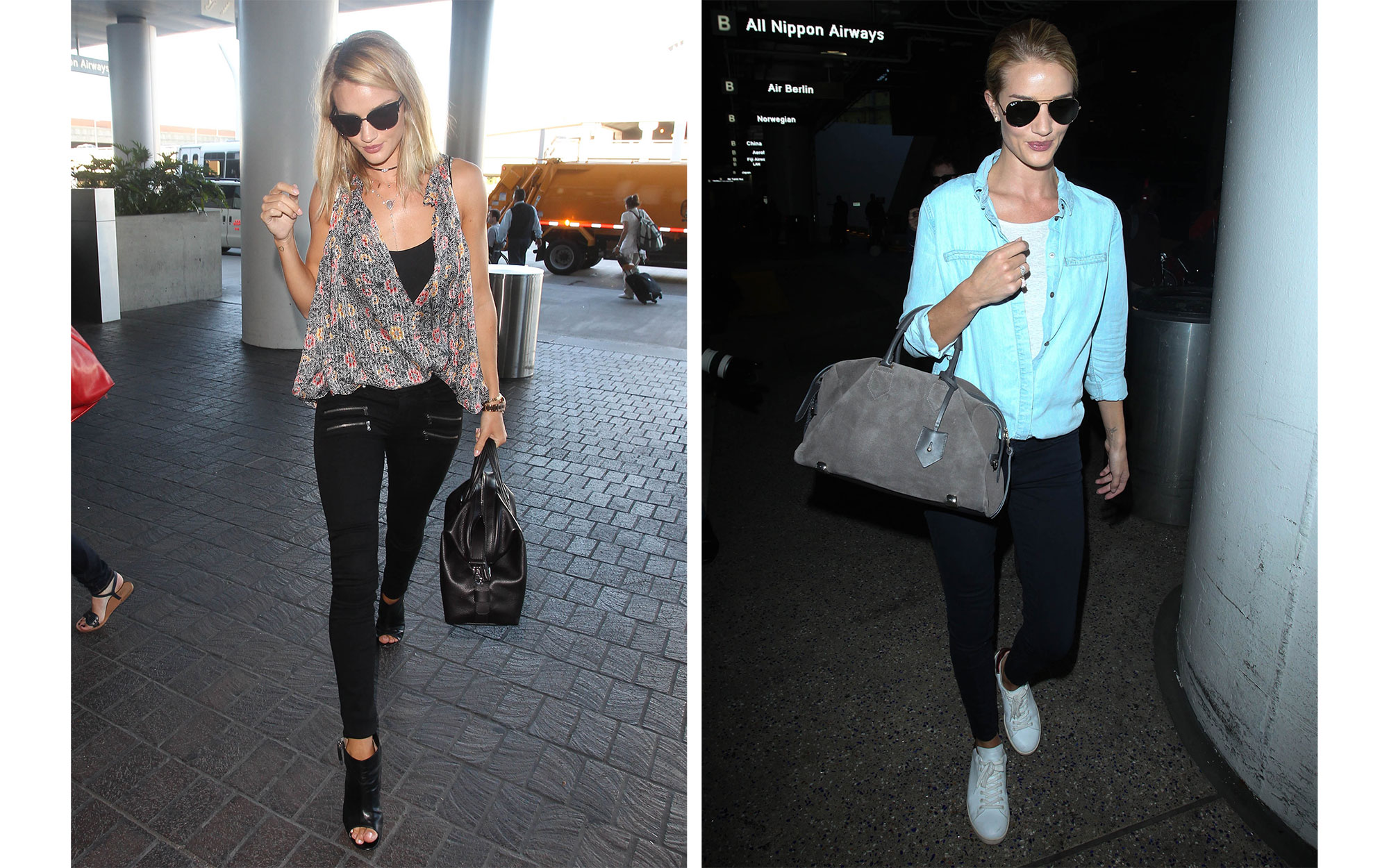 Celebrity Airport Style: Rosie Huntington-Whiteley