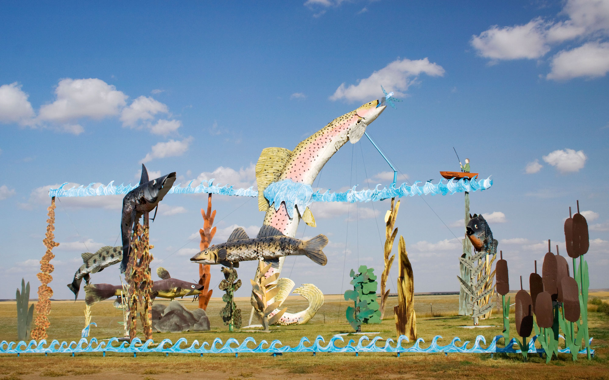 North Dakota: Enchanted Highway Sculptures