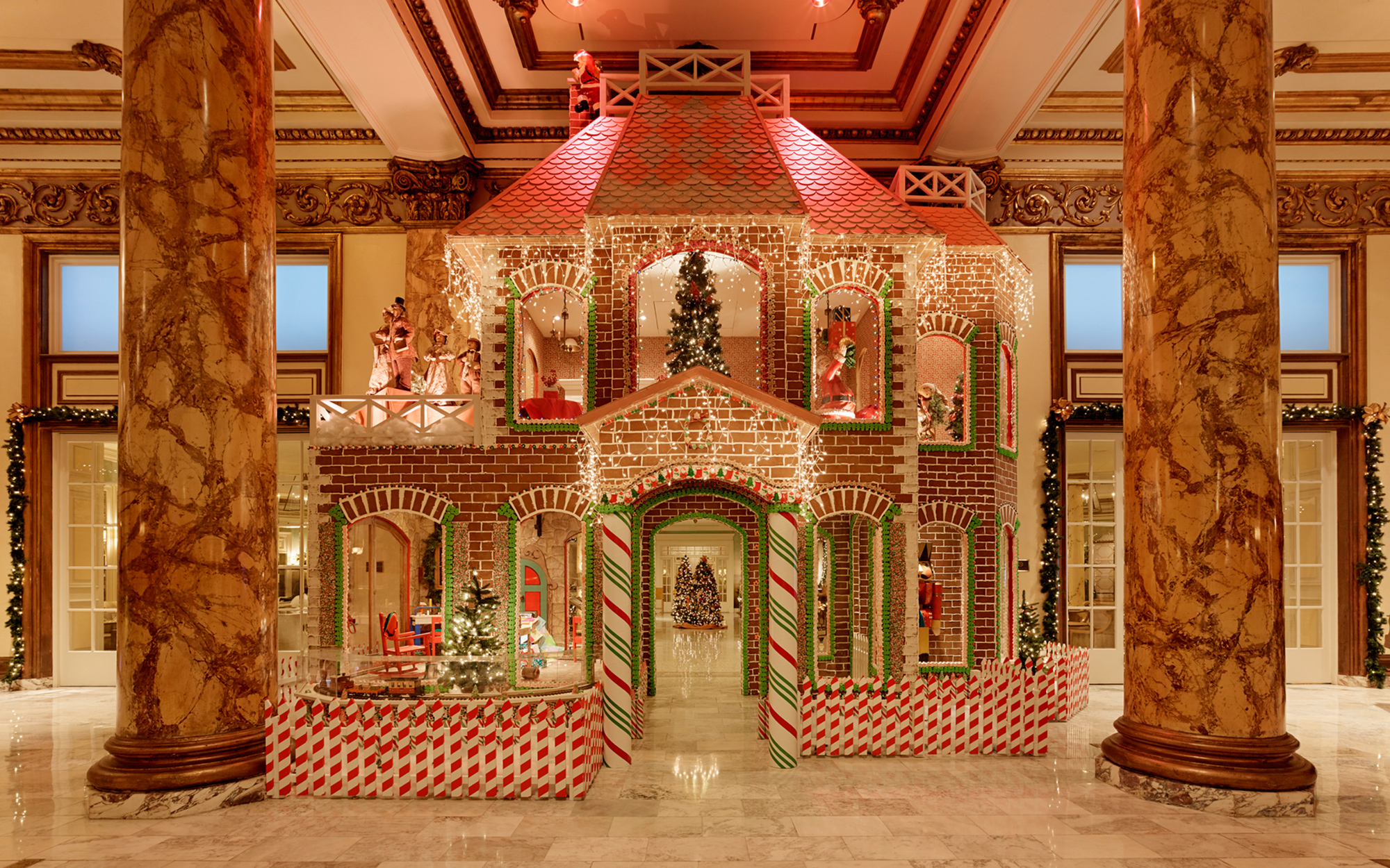 The Best Hotel Gingerbread Houses: Fairmont San Francisco, California